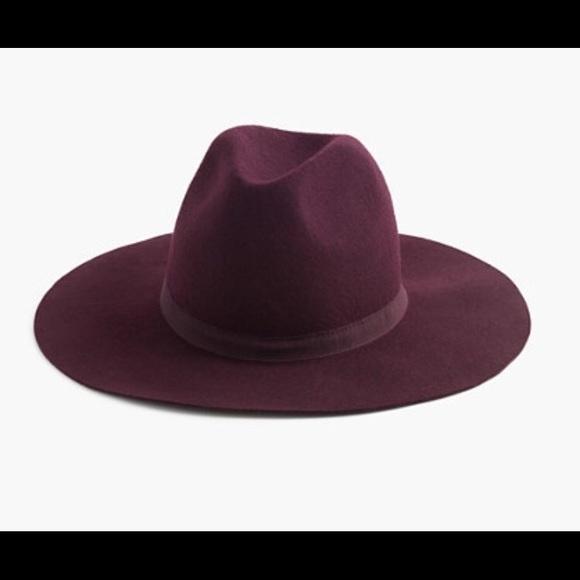 NWT J.Crew Wide Brim Italian Wool Felt Hat ded0f3be8f9d